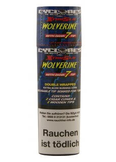 Cyclones Wolverine X-TRA Slow mit Holzfilter 2er Pack